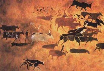 壁画群中动物形象颇多,千姿百态,各具特色.